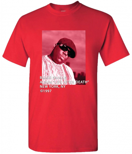 Band Specific Mens Biggie Smalls Life After Death Graphic T-Shirt