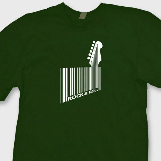 Bar Code Guitar Bass Funny Rock T-shirt Guitarist Music Humor Tee Shirt