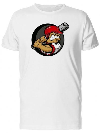 Baseball Cartoon Player Men's Tee -Image by Shutterstock