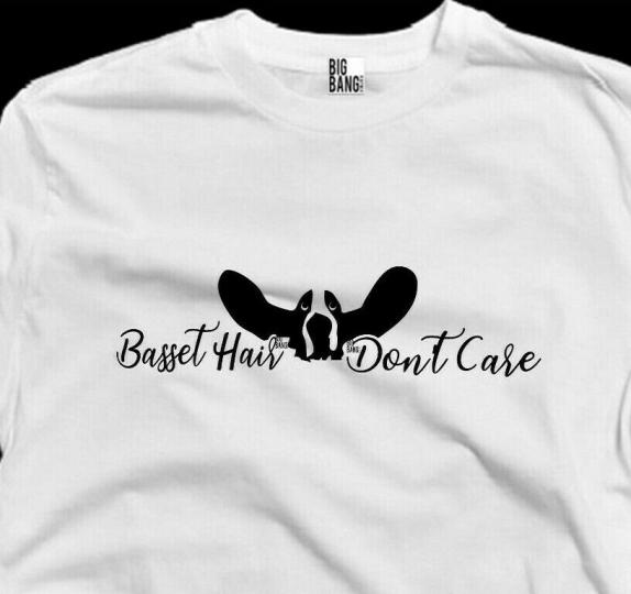 Basset DAD T-Shirt Womens Joke Funny Husband Boyfriend Love My Hound Fathers Day