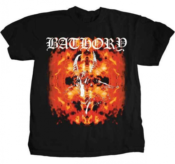 Bathory Fire Goat Viking Thrash Black Metal Music Band Tee Shirt PHD-BAT-1001