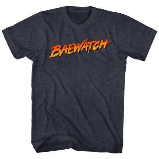 Baywatch 90's Drama Beach Patrol Lifeguard Baewatch Logo Adult T-Shirt Tee