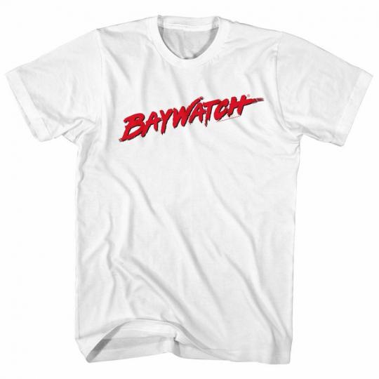Baywatch Logo White Adult T-Shirt