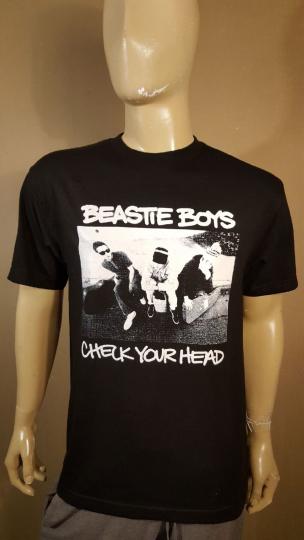 Beastie Boys Black T-shirt Check Your Head Tee Old School Hip Hop 90s RAP