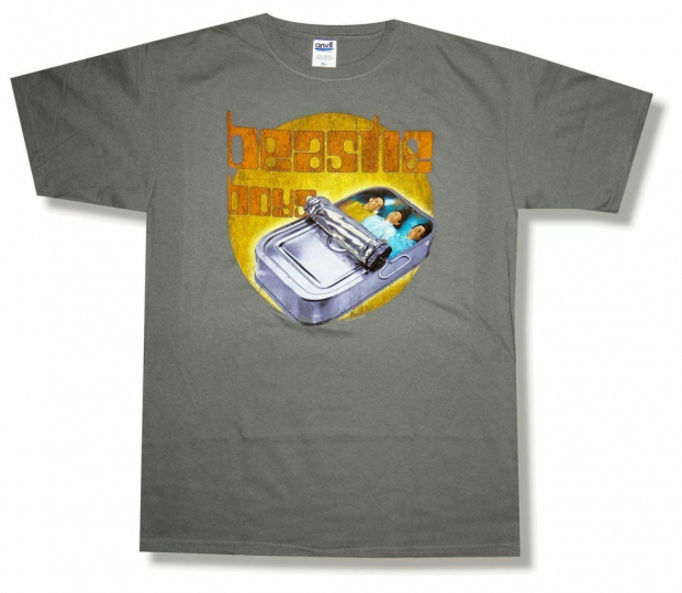 Beastie Boys In Sardine Can Charcoal Grey T Shirt New Official