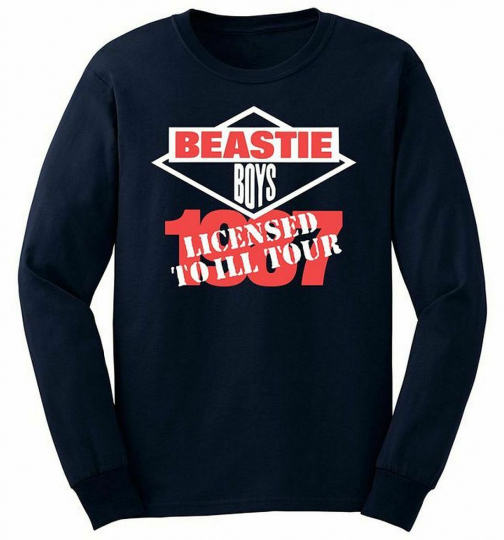 Beastie Boys License 87 Tour Long Sleeve T-Shirt SM, MD, LG, XL, XXL New