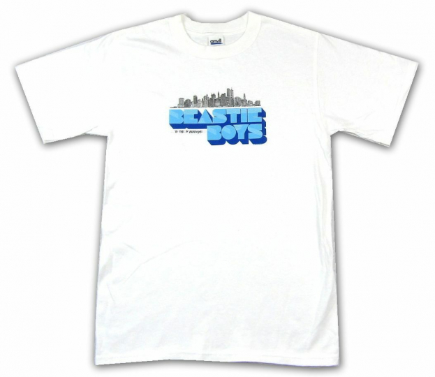 Beastie Boys Skyline To The 5 Boroughs White T Shirt New Official Merch
