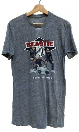 Beastie Boys Solid Gold Hits Gray Burnout T-shirt by Chaser Hip Hop Band Tee