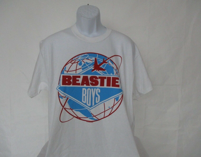Beastie Boys White Band Concert T-Shirt - Adult Size Large NEW