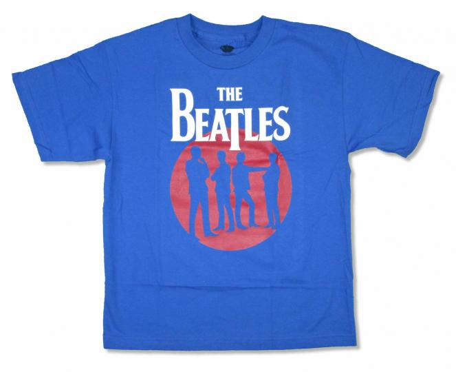 Beatles Silhouette Circle Blue T Shirt New Official Band Merch