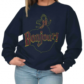 Beauty Bonjour Beast Cartoon Classic Movie Sweat Shirt Sweatshirt For Womens