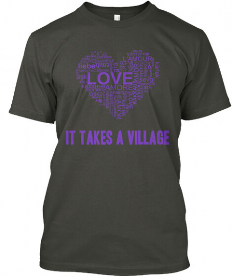 Becks Adoption Love It Takes A Village Every Good And Hanes Tagless Tee T-Shirt