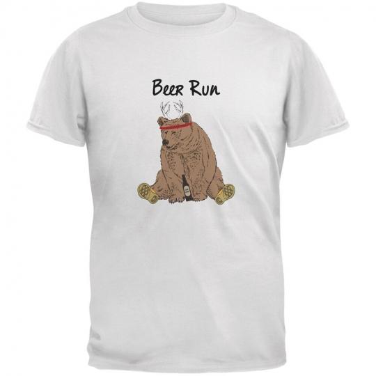 Beer Run White Adult T-Shirt