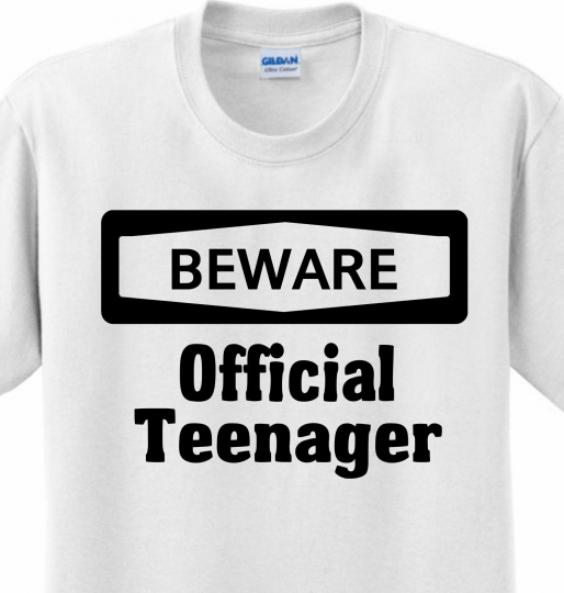 Beware Official Teenager Funny Saying Novelty Humor Cute Joke T-shirt Any Size