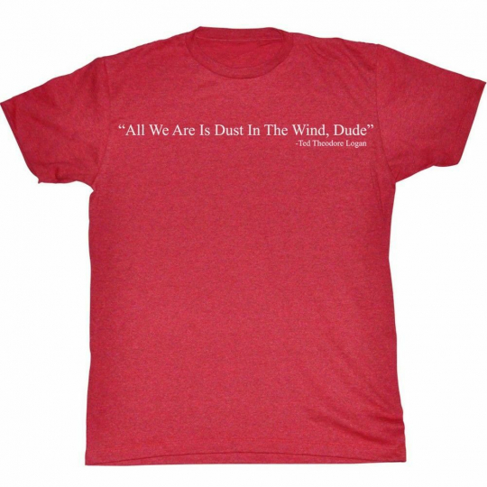 Bill and Ted Dust Red Adult T-Shirt