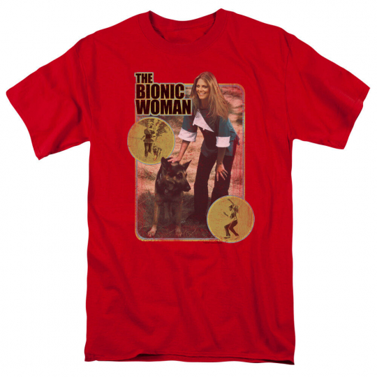 Bionic Woman TV Show JAMIE AND MAX Photo Licensed Adult T-Shirt All Sizes