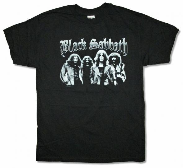 Black Sabbath Greyscale Band Portrait Black T Shirt New Official