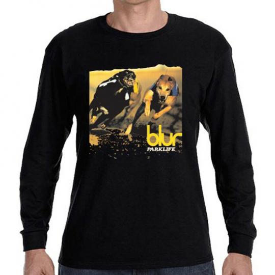 Blur Parklife Album Rock Band Men's Long Sleeve Black T-Shirt Size S to 3XL