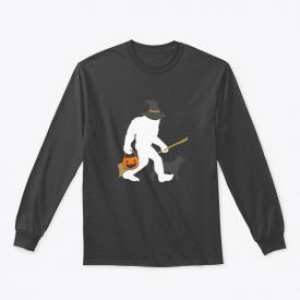 Boo Crew Bigfoot Halloween Witch Pun Sa Gildan Long Sleeve Tee T-Shirt