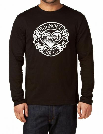 Bouncing Souls Logo Long Sleeve Black New T-shirt Rock Band Shirt