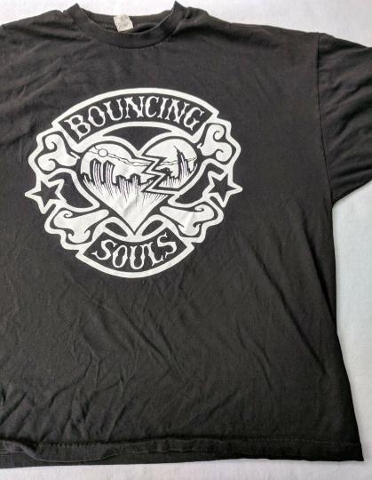 Bouncing Souls Ska Punk 3X Black Short Sleeve 100% Cotton T-Shirt