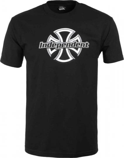 Brand New Mens Independent Trucks Chrome Front T-Shirt Black Large