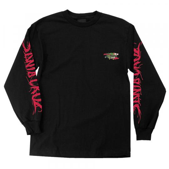 Brand New Mens Santa Cruz Wave Slasher LS T-Shirt Black