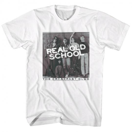 Breakfast Club 80's Brat Pack Teen Movie  Poster Real Old School Adult T-Shirt