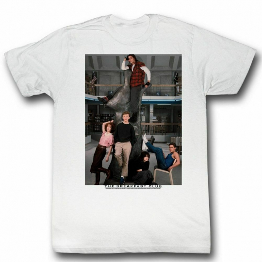 Breakfast Club Library White Adult T-Shirt