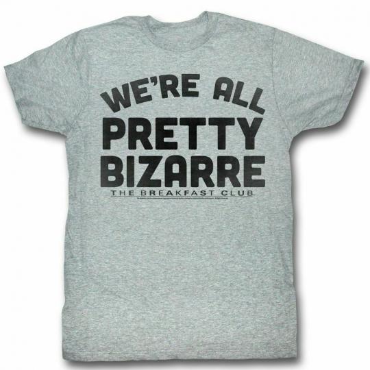 Breakfast Club Pretty Bizarre Gray Adult T-Shirt