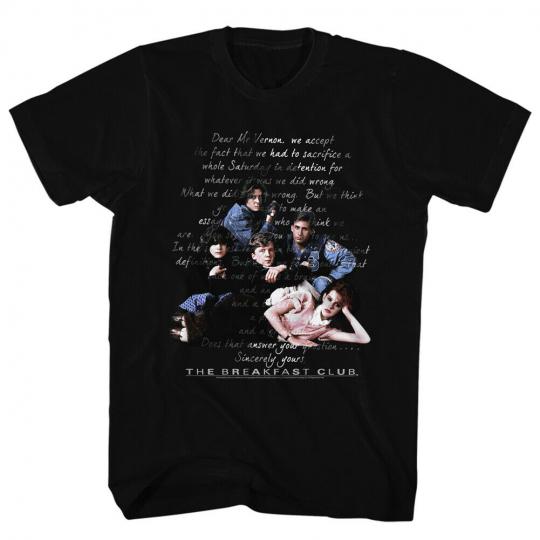 Breakfast Club Teen Comedy Movie The Essay Adult T-Shirt Tee