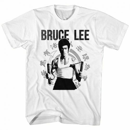 Bruce Lee Chucks White T-Shirt