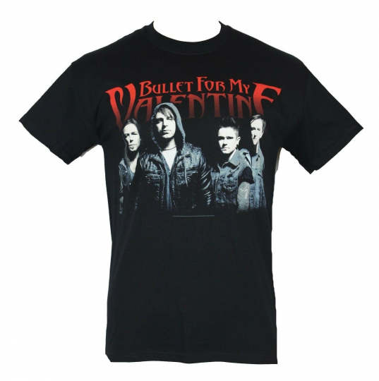 Bullet For My Valentine  Mens T-Shirt - 2014 Tour Photo Band Face Image