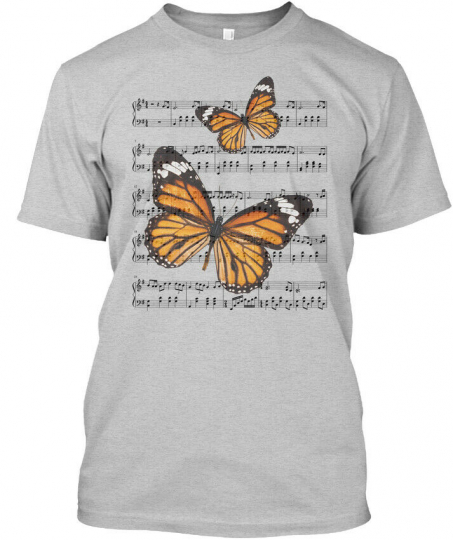 Butterfly- Music -new Hanes Tagless Tee T-Shirt