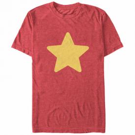 CARTOON NETWORK STEVEN UNIVERSE STAR T-SHIRT MENS HEATHER RED RETRO TV SHOW TEE