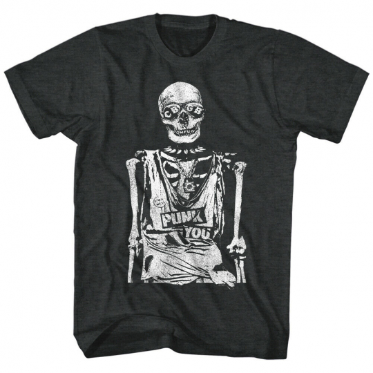 CBGB 80's NYC Rock and Roll Music Club Adult T-Shirt Tee Punk You Skeleton