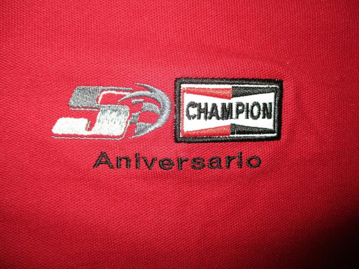 CHAPION SPARK PLUG 50TH ANNIVERSARY POLO SHIRT Embroidered Logo Federal Mogul XL