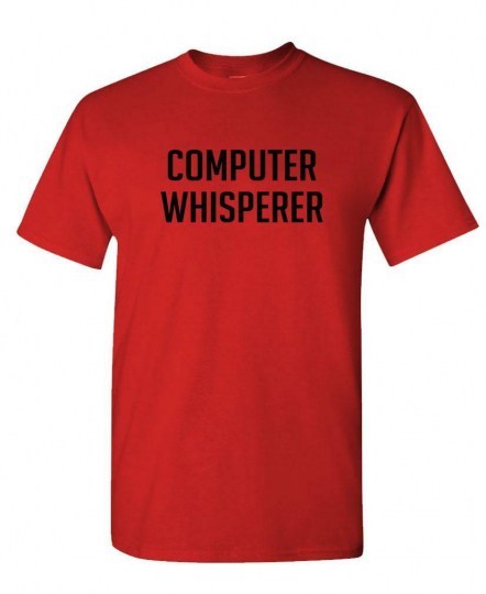 COMPUTER WHISPERER - nerd geek tech - Mens Cotton T-Shirt
