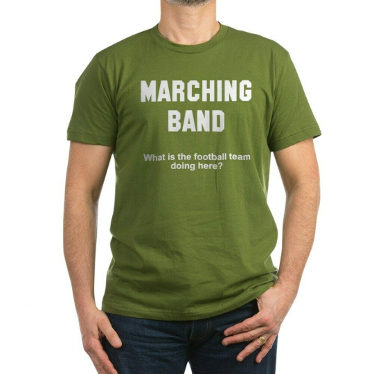 CafePress Marching Band Men's Fitted T Shirt (Dark) Mens Fitted Tee (1004809301)