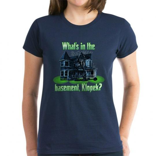 CafePress The Burbs Basement Women's Dark T Shirt Womens T-Shirt (358873846)