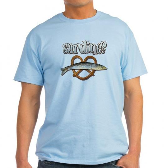 CafePress The Burbs Sardine Light T Shirt 100% Cotton T-Shirt (327657984)