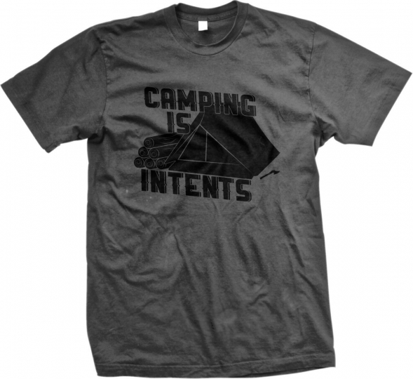 Camping Is Intents Intense In Tents Pun Funny Humor Joke LOL Mens T-shirt