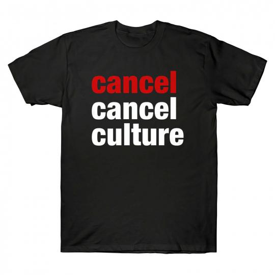 Cancel Cancel Culture Men's Short Sleeve T Shirt Cotton Black Navy Tee Costume