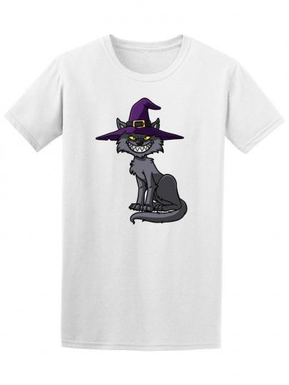 Cartoon Halloween Cat Men's Tee -Image by Shutterstock