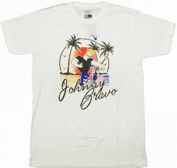 Cartoon Network - 90's Throwback Johnny Bravo Adult T-Shirt - Animated sitcom