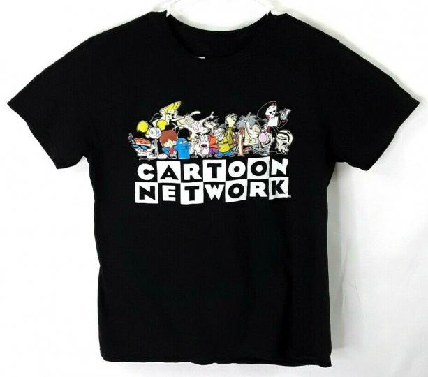Cartoon Network Classic Characters Black T-Shirt Size Large Dexter Johnny Bravo
