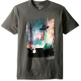 Cartoon Network – Courage the Cowardly Dog Real Alien Abduction Adult T-Shirt