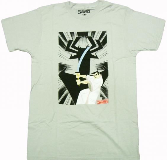 Cartoon Network - Samurai Jack and Aku Adult T-Shirt - Action Adventure Comedy