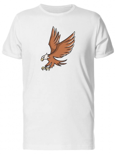Cartoon Of Brown Eagle Men's Tee -Image by Shutterstock
