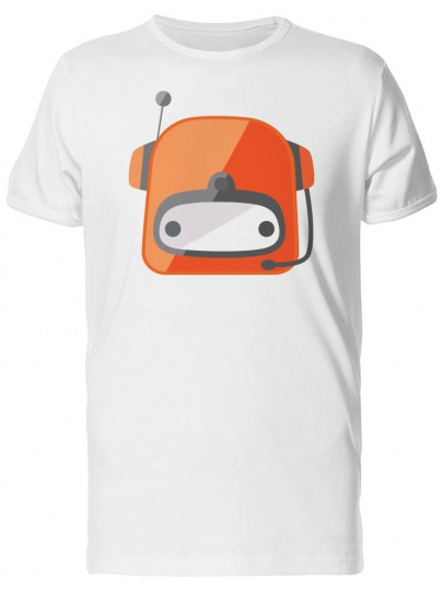 Cartoon Red Robot Head Men's Tee -Image by Shutterstock